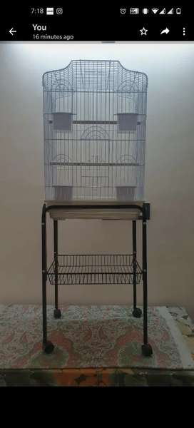 Bird Cage with stand with trolly