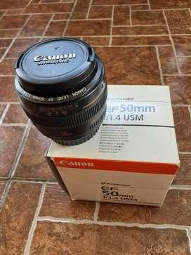 Lensa Fix 50mm F 1.4 USM Like New