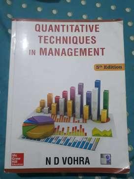 Quantitative techniques in management by ND Vohra