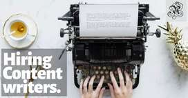 Content Writers-Work from home