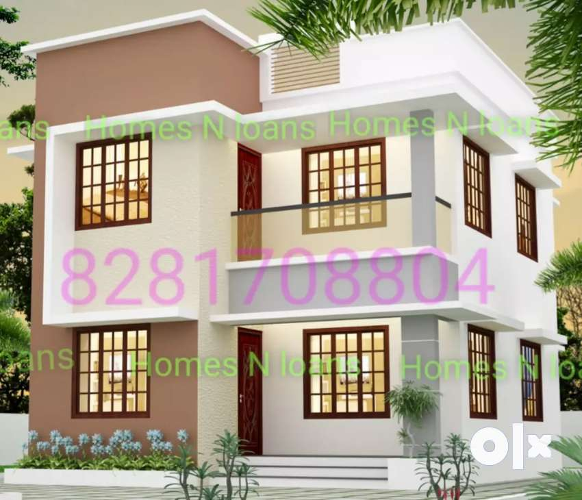 1100sf 3bhk house near Angamali with bank loan full amount 0