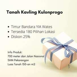 Gratis BPHTB Tanah 1Jt-an SHM Pecah Pekarangan Di Kulon Progo, Dkt YIA