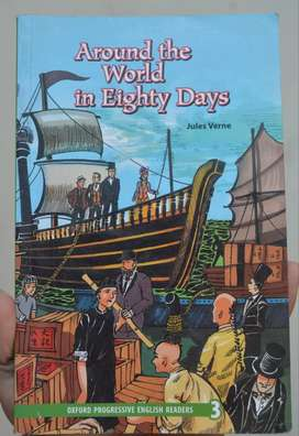 "Oxford Novel ""AROUND THE WORLD IN 80 DAYS""by Jules Verne New Conditon"