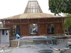 Jual Rumah Kayu Jati Joglo Ukiran, Pendopo, Rumah Limasan