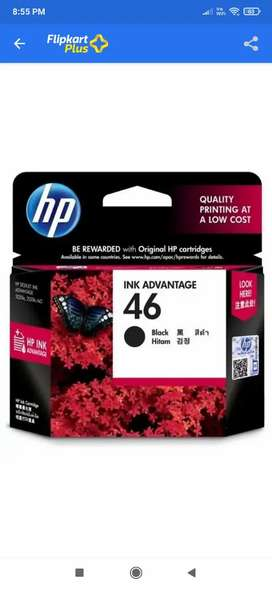 HP Ink advantage 46 black hitam catridge
