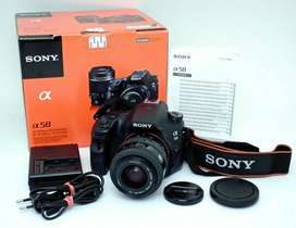 Sony Alpha a58 DSLR camera Great Condition with dual lens 18-55mm and