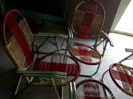 Chairs made of aluminium with good condition