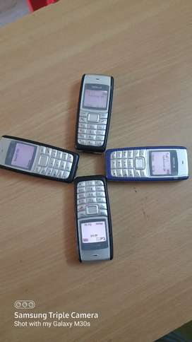 Nokia 1112 yellow and white display mobiles new condition 1200rs