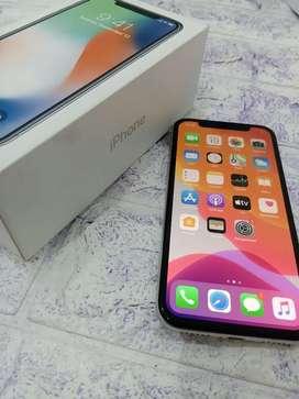 iPhone X 64Gb Silver like new inter ori