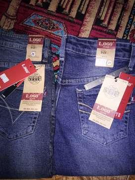Celana jeans merek L.OGO PREMIUM DENIM EST.1990