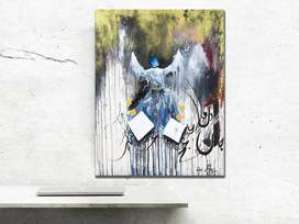 Dervish Whirling Hand Made Original Acrylic Painting