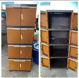 Gratis ongkir bjm - Lemari plastik 8 pintu / 4 rak dalam