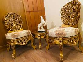 8 chairs Dining table with Glass top and other home furniture