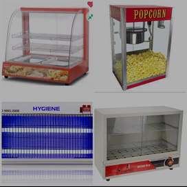 Hot case food warmer glass display popcorn machine insects killer heat