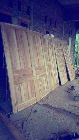 Daun pintu kayuJati