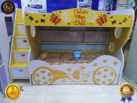 Yellow Bunk bed/Bunker Bed for Boys/Kids Bunk Bed/ Bed for kids/3 in 1