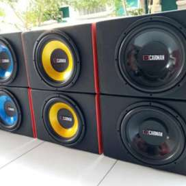 Subwoofer 12 inchi dobel coil plus box mdf tebal