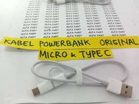 Cable Power Bank Dual Typhe C/Micro (30cm) F Charge ORI 100%