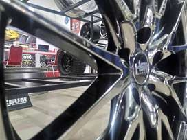 Velg mobil black chrome ring 18 || Toyota kijang innova