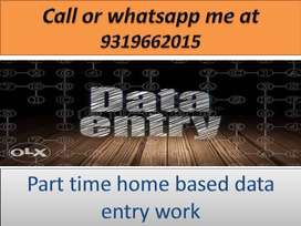 Data entry job work at home based job typing work part time job