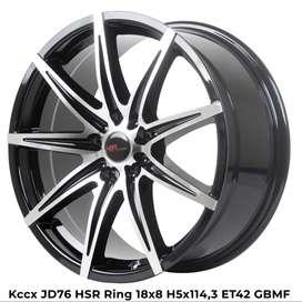 new KCCX JD76 HSR Ring 18X8 H5X114,3 ET42 GBMF