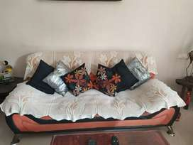 5 seater sofa set (2 1-seater & 1 3-seater) + accessories