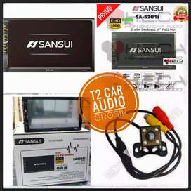 SANSUI 2DIN deckless android link 7inc mumer+camera hd harga grosir om
