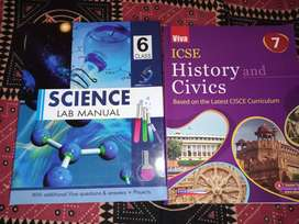 Books for sale ( science manual lab book , history and civics)