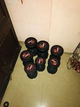 Reflex dumbells 150 rupees kg