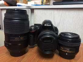 Nikon d5200 professional camera set for sale