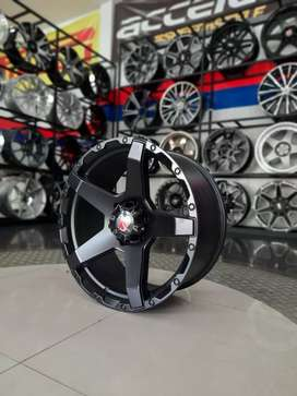 Velg racing mamba m8a r20x9.0 h6x139.7 et15 on pajero Ford everest