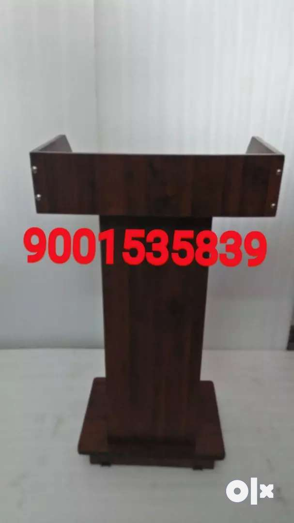 Wooden full size new podium , lecture stand  school furniture 0