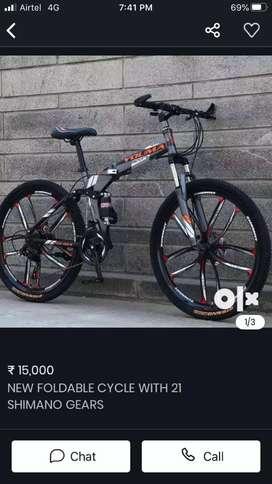 NEW FOLDINGTYRE CYCLE WITH 21 SHIMANO GEARS
