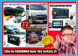 Special 2din for GRANDMAX android link led 7inc +camera hd mantul