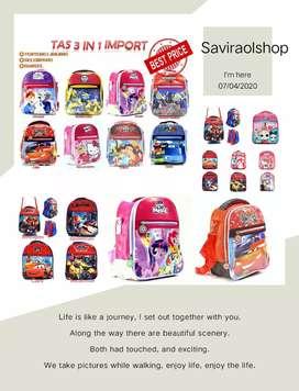 WBS tas anak paud sekolah murah 3in1  Price : 48.000