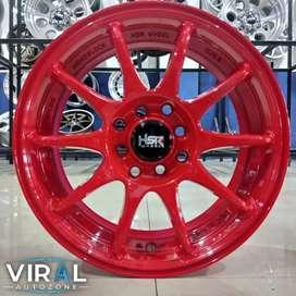 Velg Racing R15 Lebih Contras Di Mobil Honda Brio Grey Gratis Ongkir