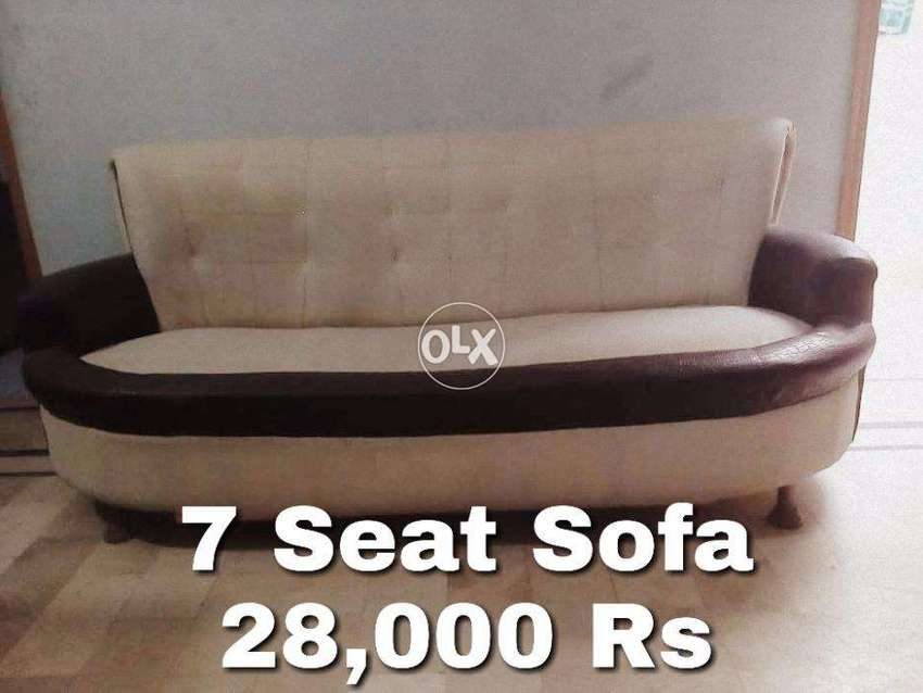 7 Seated Sofa Set (Black & White in Color) 0