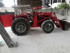 Mf 385 4wd with front wheel loader  in good condition.