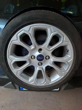 Ecosports alloy wheels