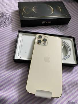 I phone 12 pro 256gb gold PTA approved official 1 year warranty