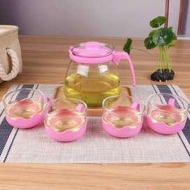 teko teh gelas set