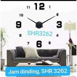 Jam dinding 3D besar