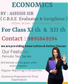 Accountancy & Economics online  classes for classes XIth &XIIth
