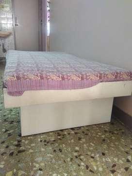 Wooden Diwan with mattress