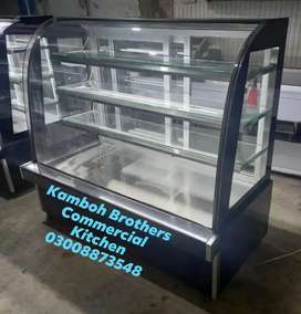 Bakery Display Counter 5x2.5x4.5  with Marble, Glass, steel structure