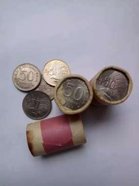 Uang koin kuno Rp 50 burung tahun 1971