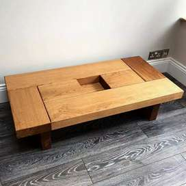 7 Central table designs of Ash Wood table