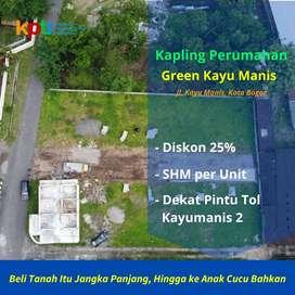 Terima SHM Per Unit, Tanah Kavling Bogor Kota