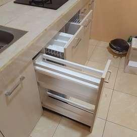 Menerima custom Berbagai macam lemari lapis hpl, meja bar, kitchen set