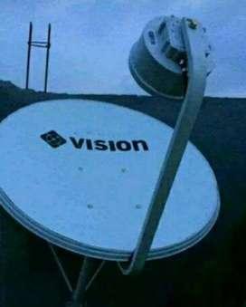 Pasang tv satelit indovision Mnc Vision  pasang cepat hemat jernih